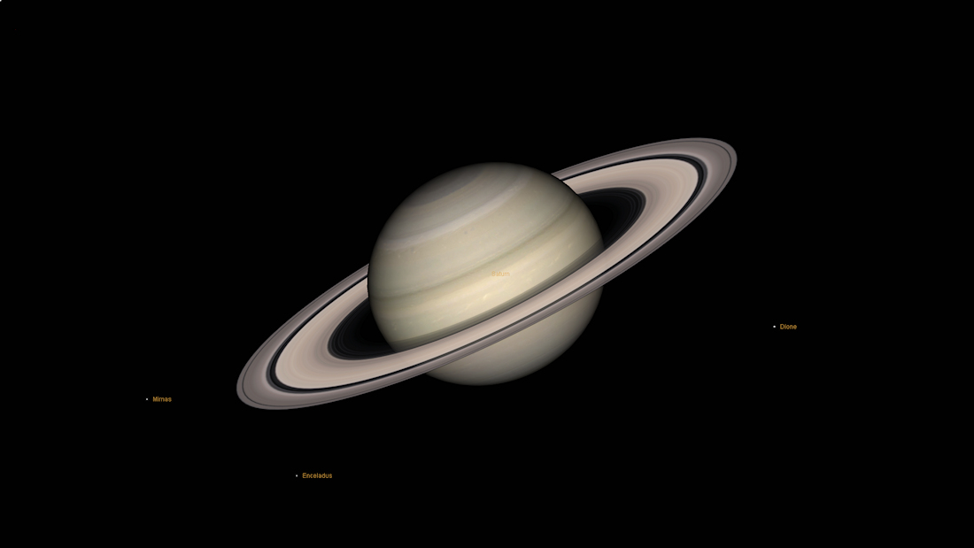 Saturn ring plane image